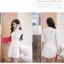 เดรสสีขาว ผ้าสวย ยืดหยุ่นดีมากค่ะ ผ้าหนาค่ะ ซิปหลัง แขนยาว กระโปรงบาน thumbnail 4