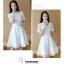 เดรสสีขาว ผ้าลูกไม้ลายหว๊านหวานนนเลยค่ะ เรียบร้อยดูดีมาก ซิปซ่อน ซับในพร้อม thumbnail 2
