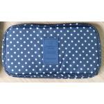 กระเป๋าใส่ชุดชั้นใน สำหรับจัดกระเป๋าเดินทาง (สีน้ำเงินลายจุดขาว)