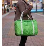 กระเป๋าพับเก็บได้ ใส่บนกระเป๋าล้อลาก สะพายไหล่ได้ (สีเขียว)