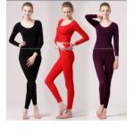 ชุดลองจอนหญิง รุ่นสเปเชี่ยล สีดำ วูลผสมแคชเมียร์ seamless