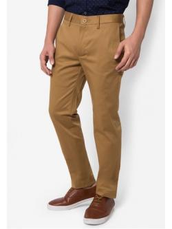 กางเกงขายาว Chino Slim สีกากี