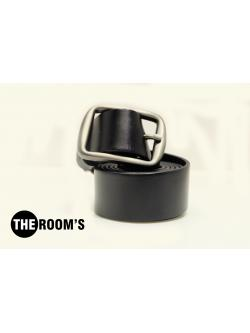 THE ROOM'S เข็มขัดหนัง Genuine leather (SuperBlack)