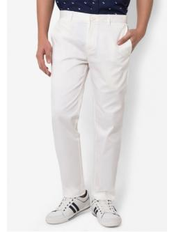 กางเกงขายาว Chino Slim สีขาว