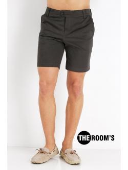 กางเกงขาสั้น สุดชิล สีเทาเข้ม