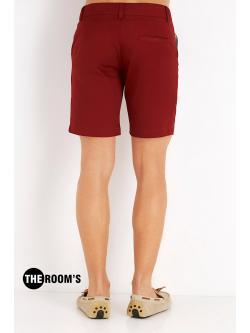 กางเกงขาสั้น สีเลือดหมู