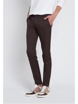 กางเกงสแลค ผ้าเวสปอยท์ สีน้ำตาล
