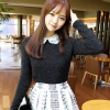 เสื้อแขนยาว แฟชั่นเกาหลี สีดำ