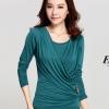 เสื้อแขนยาวแฟชั่นเกาหลี แต่งเพชรแฟชั่น สีเขียว