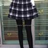 เลคกิ้งกางเกง+กระโปรง แต่งลายสก็อตขาว+ดำ บุผ้าวูลหนานุ่ม