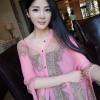 3in1 เสื้อคลุม ผ้าคลุมไหล่ ผ้าพันคอ สวย ๆ สไตล์เกาหลี สีชมพู
