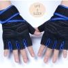 ถุงมือฟิตเนสแบบมืออาชีพ สีน้ำเงิน ไซส์ M