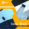เสื้อเชิ๊ตแขนยาว Color Block