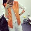 เสื้อคลุม แจ็คเก็ตแฟชั่น Classic style สไตล์เกาหลี-สีส้ม
