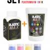 เซ็ตเม็ดพลาสติก แม๊กซ์ (พลาสติกมหัศจรรย์ปั้นได้) ไซส์ M + เม็ดพลาสติกสี 4 สี CMYK - SET PLASTIC MAX SIZE : M + CMYK COLOR - Moldable Plastic for DIY CRAFT ART