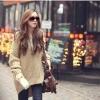 Sweater เสื้อไหมพรมถัก ทรงสวยยืดได้เยอะ เนื้อดี ใส่อุ่น สีกากี