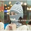 หมวกเอสกิโม อะคริลิค 4in1 H&S (หมวก+ที่ปิดหู+ที่ปิดปาก+ผ้าพันคอ)