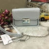 CHARLES & KEITH PUSHLOCK CROSSBODY BAG-ฟ้าอ่อน