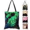 """กระเป๋าสะพาย Mermaid Sequin Tote bag size 13"""" - Multicolor Green (เขียวมัลติคัลเลอร์)"""