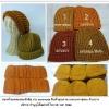 หมวกไหมพรมพระถักมือแบบหนา กันหนาว
