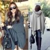 เสื้อโค้ทกันหนาว ผ้ามีน้ำหนักทิ้งตัว ใส่สวย แต่งขนเฟลอร์รอบฮู้ด