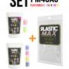 เซ็ตเม็ดพลาสติก แม๊กซ์ (พลาสติกมหัศจรรย์ปั้นได้) ไซส์ S + เม็ดพลาสติกสี 6 สี (CMYK+สีสะท้อนแสง) - SET PLASTIC MAX SIZE : S + CMYK/NEON 6 COLORS - Moldable Plastic for DIY CRAFT ART