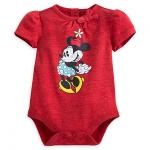 บอดี้สูท มินนี่เมาส์ วินเทจ Minnie Mouse Vintage Disney Cuddly Bodysuit for Baby