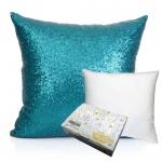 หมอนอิง Sequin Pillow Cushion Cover Pillow Case ขนาด 18 x 18 inch 45 cm. (สีเขียวลากูน่า) ขายดี