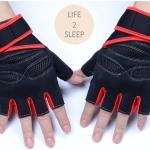 ถุงมือฟิตเนส แบบมืออาชีพ สีส้ม ไซส์ M