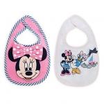 ผ้ากันน้ำลาย มินนี่และเดซี่ เซต 2 ชิ้น Minnie Mouse and Daisy Duck Bib Set for Baby - 2-Pack