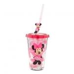 แก้วน้ำ มินนี่เมาส์ พร้อมหลอดดูด Minnie Mouse Tumbler with Straw - Small