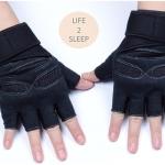 ถุงมือฟิตเนส แบบมืออาชีพ สีดำ ไซส์ M