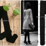 เลคกิ้งรุ่นคลุมมิดเท้าสีดำ บุผ้าวูลด้านใน งานนำเข้าเกาหลีงานคุณภาพเกรด 3 เอ