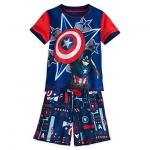 ชุดนอนเด็ก กัปตัน อเมริกา Captain America: Civil War Short Sleep Set for Boys