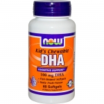 Now Foods, Kid's Chewable DHA, Fruit Flavor, 100 mg, 60 Softgels (ขายดี)
