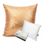 หมอนอิง Sequin Pillow Cushion Cover Pillow Case ขนาด 18 x 18 inch 45 cm. (สีทอง)