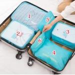 กระเป๋าจัดระเบียบกระเป๋าเดินทางชุดใหญ่ 6 ใบ