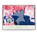 ถุงเท้ามินนี่เมาส์ เบบี้ แพคละ 3 คู่ ไซส์ : 12-24 เดือน Minnie Mouse Sock Set for Baby - 3-Pack