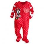ชุดนอน มินนี่เมาส์เบบี้ ไซส์ : 3-6 เดือน Minnie Mouse Stretchie Sleeper for Baby