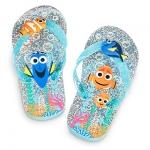 รองเท้าแตะเด็ก ไฟน์ดิ้ง ดอรี่ Finding Dory Flip Flops for Kids - Glitter