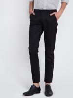 กางเกงสแลค ผ้ากำมะดิน สีดำ