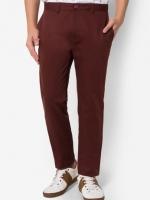 กางเกงขายาว Chino slim สีเลือดหมู