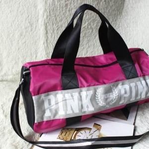 Victoria's Secret PINK Gym Duffle Bag กระเป๋าเดินทางใบใหญ่-สีชมพู