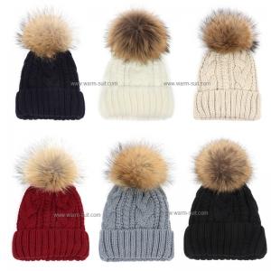 หมวกไหมพรม อะคริลิค บุวูล+เฟอร์ฟอกซ์