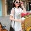 เสื้อแฟชั่น มินิเดรส EXCITING Barcode แขนซีทรู สีขาว thumbnail 2