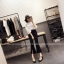 กางเกงขายาว 5 ส่วน ผ่าหน้าเก๋ ๆ สไตล์เกาหลี สีดำ thumbnail 2