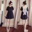 เสื้อแฟชั่น mini Dress แต่งโบว์สีเทาด้านหลัง น่ารัก thumbnail 1