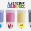 เซ็ตเม็ดพลาสติก แม๊กซ์ (พลาสติกมหัศจรรย์ปั้นได้) ไซส์ S + เม็ดพลาสติกสี 4 สี CMYK - SET PLASTIC MAX SIZE : S + CMYK COLOR - Moldable Plastic for DIY CRAFT ART thumbnail 4