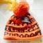 หมวกทอไหมพรมทอสลับลาย แต่งปอมบน thumbnail 10