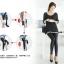 Legging กางเกงเลกกิ้งหนัง ขายาว สีดำ thumbnail 9